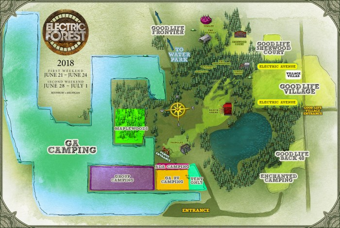 electric forest map